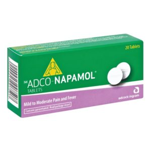 Adco-Napamol Tablets 20s side