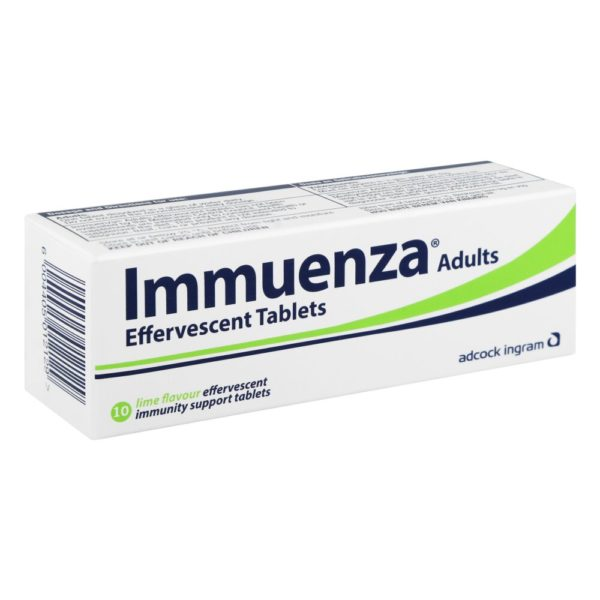 Immuenza LIME Effervescent - Adult Tabs side