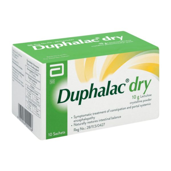 Duphalac Dry Powder Sachet 10 x 10g side