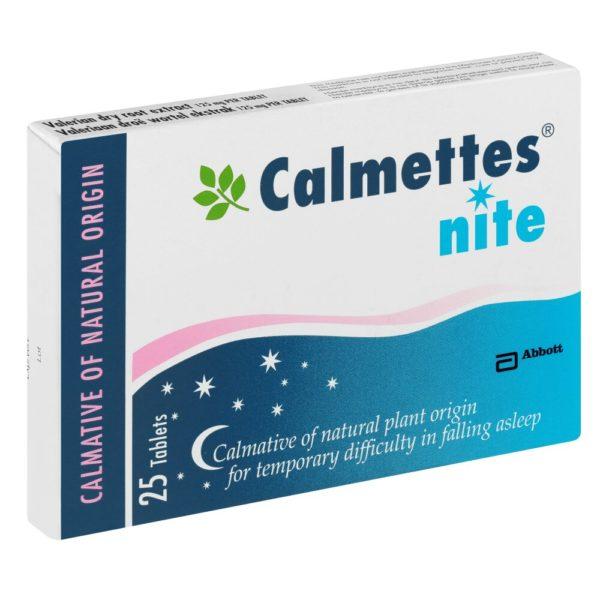 Calmettes Nite Tabs 25's side